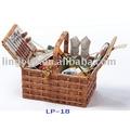 плетеная корзинка для пикника