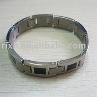 black Titanium Bracelet, mens titanium bangle,stainless steel bracelet,