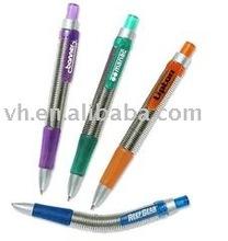 Metal spring pen