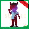 plush sport horse mascot costume/fur animal mascot costume