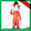 orange horse mascot costume / fur mascot costume /plush costume