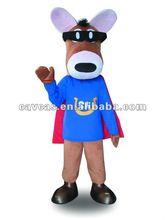 horse with cloak mascot costume
