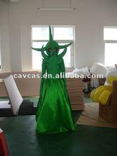green devil mascot costume