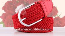 2014 newest unisex Woven elastic belt & fashion Elastic canvas belt
