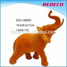 Home decorative resin flocked animal