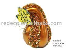 Ceramic pumpkin with jewelery finish