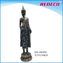 Resin standing buddha statue