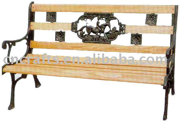 banco de jardim antigo : banco de jardim antigo:de madeira e ferro fundido banco do jardim-Cadeiras de estilo antigo