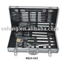 24pcs bbq tools set in aluminum case