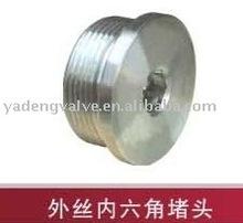 stainless steel high pressure male inside hex. plug
