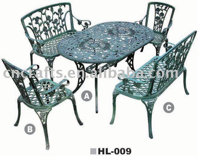 Patio En Fonte D 39 Aluminium Ensembles Patio Meubles De Jardin Salon De Jardin Jardin De Table