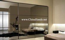 Contemporary Glass Doors Luxury Bedroom Furniture Wardrobe