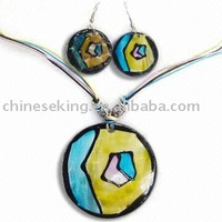 fashion paint necklace set, color jewelry sets for woman