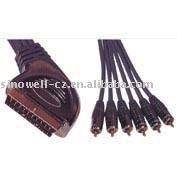 21 PIN Plug Scart(120) to 6X RCA Plug cable VK30432
