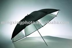 Black & silver umbrella