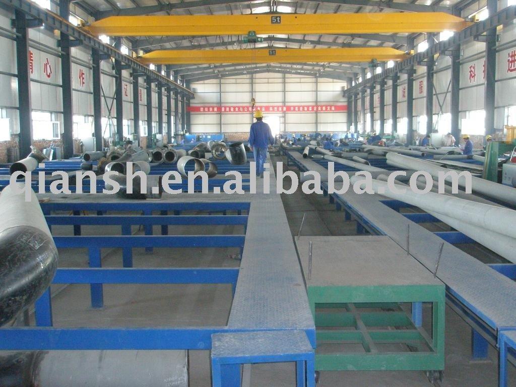 Tubo de linha de produção fabricação ; tubulação linha de produção de pré fabricação