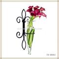 ferro forjado parede titular vaso de flores