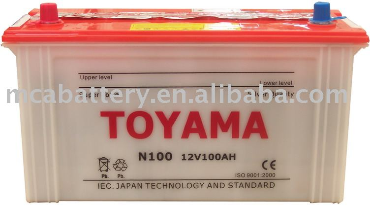 dry charge car batteries-12V100Ah(N100)