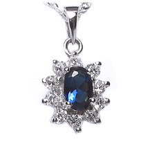 925 Sterling Silver Necklace pendant PS1214BLU US$6.07