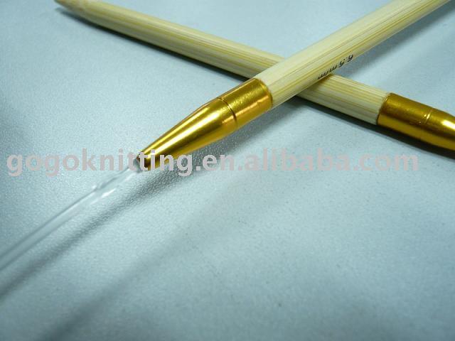 Aguja circular de bambú para tejer a mano
