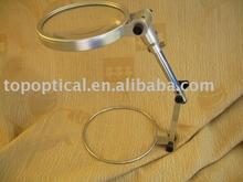 2X130mm folding magnifier plastic bifocal lens