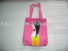 Pink Printed Shopping Bag