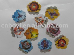 2012 new popular PP/PET/PS Tazo card for children playing and promotion