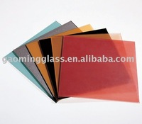 Laminated glass for railing