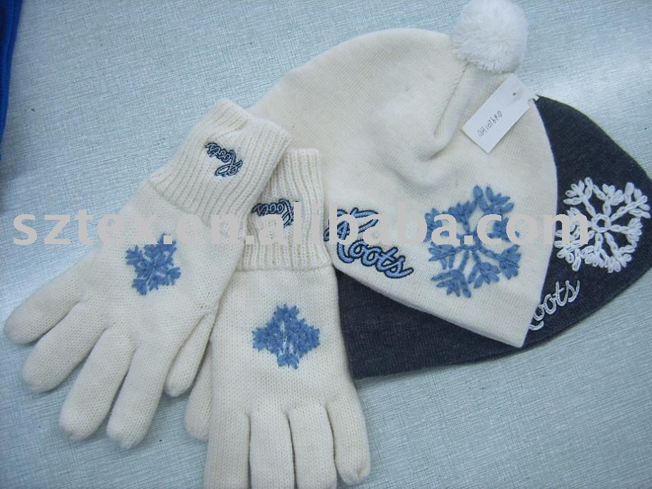 Knitting Pattern For Hat Scarf And Gloves : Knitted Hat. Glove&scarf - Buy Baby Knitted Hat & Scarf,Hat & Sca...