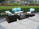 synthetic/plastic/pe rattan furniture sofa set F1001