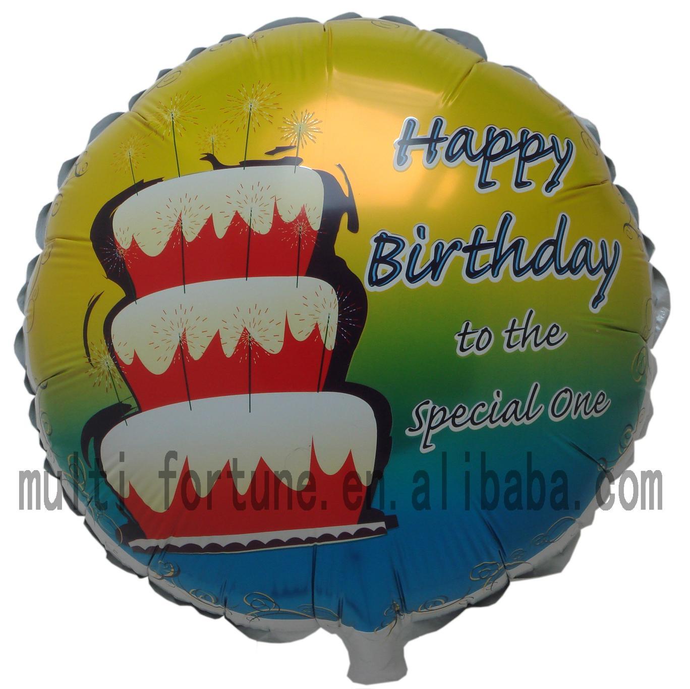 """Oem """" feliz cumpleaños """" globo diseño de Mylar"""