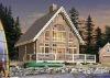 popular modern prefabricated wooden home W3938