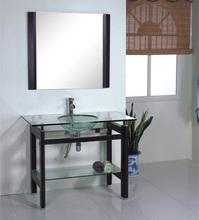 black Classic Glass Sanitary bathroom Furniture