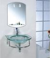 De la pared - boca de cristal templado vanidad cuarto de baño
