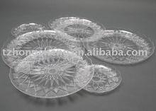 crystal plastic plates