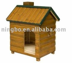 Wooden pet dog wood house shelter doghouse - green