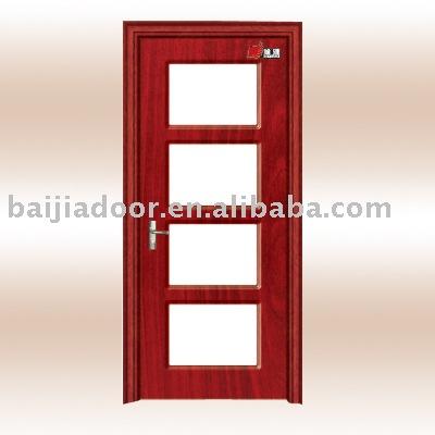 Porta de vidro madeira( mdf porta)