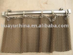 metal fabric drapery