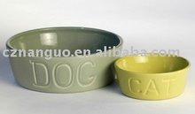 Ceramic pet food feeder