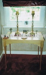 Church Alter Table - Made from American Oak to match the pews in the Private Chapel.