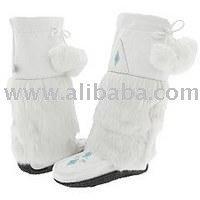 A Tall Moccasin Mukluks Women's Mukluk Leather Boot White Mukluk