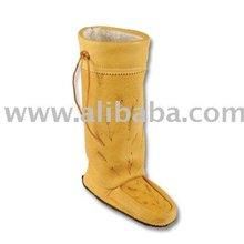 A Tall Elk Moccasin Boots Mukluks Unisex Mukluk Pattern Leather Mukluk