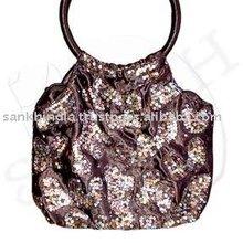 Satin fabric cane handle bag