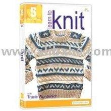 Américain Knitter apprendre à tricoter leçon 5 Fair Isle pull artisanat vidéo
