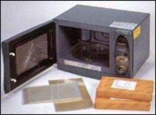 Microondas mais porta de película especial