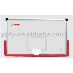 Laminated safe glass basketball backboard