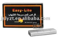 Silver charcoal for hookah/shisha/water pipe/incense burner