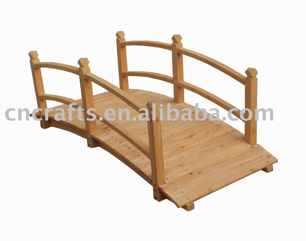 Wooden Garden Bridge Design for Pinterest