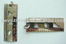 ruler shape fashion zinc alloy necklace pendant