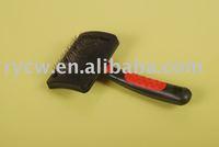 pet/dog brush with plastic handle